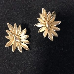 TRIFARI Goldtone Flower Clip Eartings